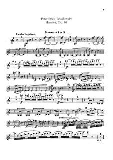 Hamlet. Overture-Fantasia, TH 53 Op.67: parte clarinetas by Pyotr Tchaikovsky