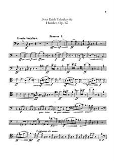 Hamlet. Overture-Fantasia, TH 53 Op.67: parte fagotes by Pyotr Tchaikovsky
