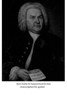 Suite for Harpsichord No.2 in E Flat Major, BWV 819: Para Guitarra by Johann Sebastian Bach