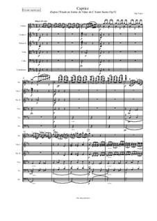 Caprice d'après l'Etude en forme de Valse de C. Saint-Saëns for Violin and Piano, Op.52 No.6: Version for string orchestra by Eugène Ysaÿe