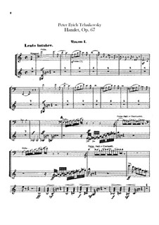 Hamlet. Overture-Fantasia, TH 53 Op.67: violinos parte I by Pyotr Tchaikovsky