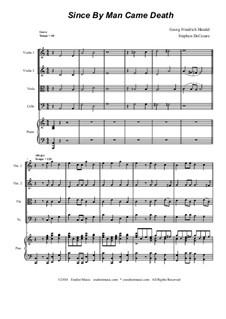 No.46 Since by Man Came Death: para quartetos de cordas by Georg Friedrich Händel
