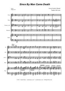 No.46 Since by Man Came Death: Para quarteto de sopro by Georg Friedrich Händel