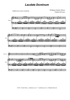 Vesperae solennes de confessore, K.339: Laudate Dominum, duet for C-instruments - organ accompaniment by Wolfgang Amadeus Mozart