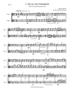 12 easy Canzonets: For viola duo by Thomas Morley