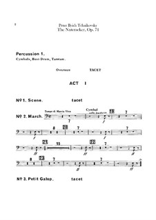 Complete Ballet: Percussion and toy trumpet by Pyotr Tchaikovsky