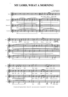 My Lord What a Morning: For SATB choir by folklore