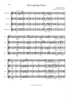 The long day closes: para quarteto de saxofone by Arthur Seymour Sullivan
