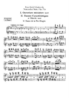 Complete Movements: Celesta or piano part by Pyotr Tchaikovsky