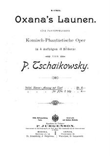 The Slippers, TH 8: Vakula's Song and Overture by Pyotr Tchaikovsky