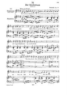 Der Geistertanz (Ghost Dance), D.116: para voz baixa e piano by Franz Schubert