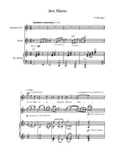 Ave Maria: For soprano, violin and piano by Pietro Mascagni