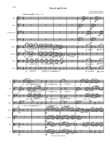 Sweet and Low (Stanford's setting): For wind quartet and string quartet by Charles Villiers Stanford