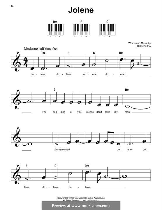 Jolene: Para Piano by Dolly Parton