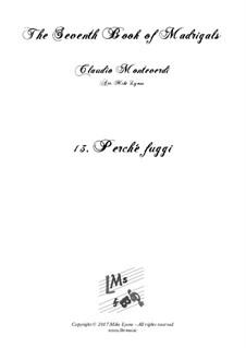 Book 7 (Concerto), SV 117–145: No.13 Perchè Fuggi by Claudio Monteverdi