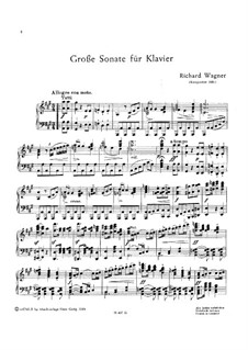 Sonata for Piano in A Major, WWV 26: Sonata for Piano in A Major by Richard Wagner