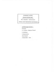 Hirten-Trio G-dur für 2 Flöten / Klarinetten und Klavier: Hirten-Trio G-dur für 2 Flöten / Klarinetten und Klavier, Op.19.2 by folklore