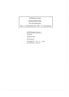 Kommt Hirten leis' (Weihnachtslied aus der Batschka): Für 1-2 Frauenstimmen und Klavier, Op.19.1 by folklore