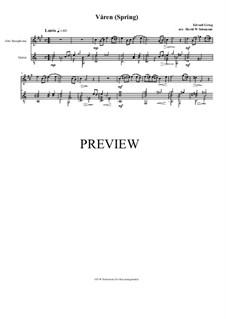 Two Elegiac Melodies, Op.34: No.2 Våren (Spring), for alto saxophone and guitar by Edvard Grieg