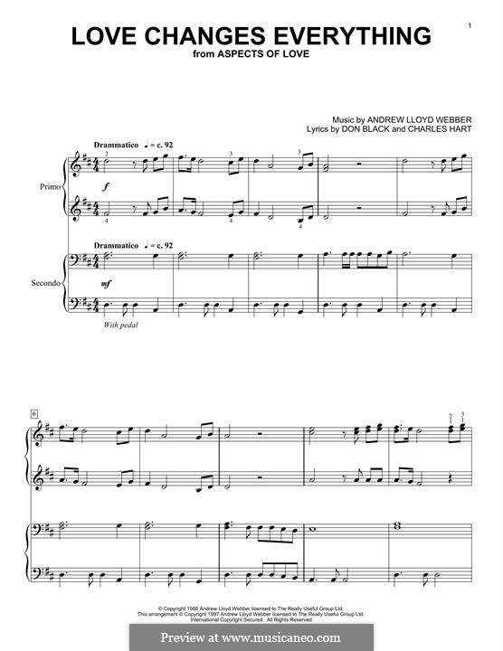 Love Changes Everything: Para Piano by Andrew Lloyd Webber