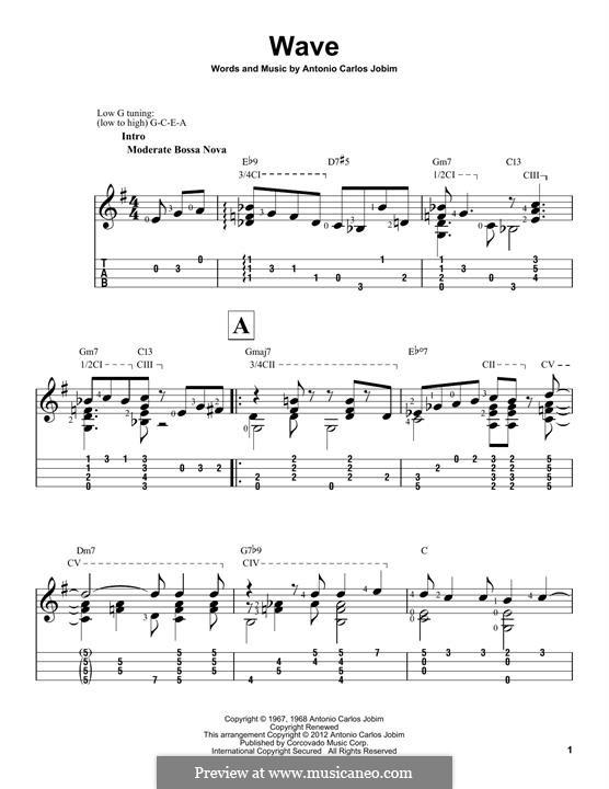 Wave: para ukulele by Antonio Carlos Jobim