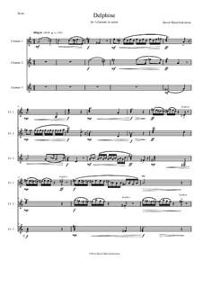 Delphine: For clarinet trio (canon a 3) by David W Solomons