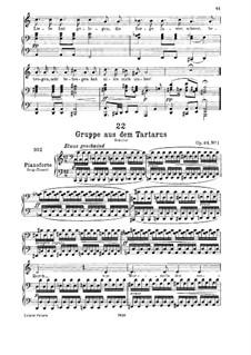Gruppe aus dem Tartarus (Group from Hades), D.583 Op.24 No.1: para voz baixa e piano by Franz Schubert