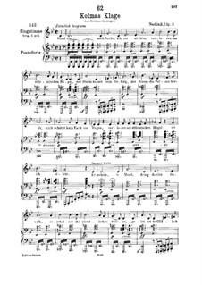 Kolma's Klage (Colma's Lament), D.217: para voz baixa e piano by Franz Schubert