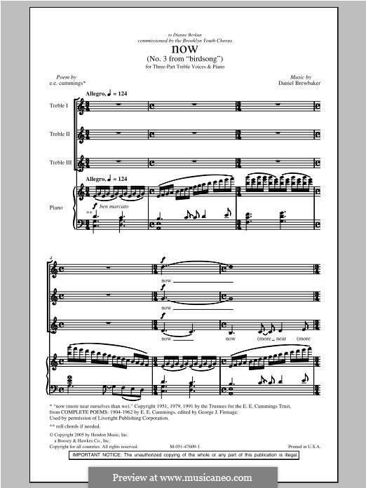 Now: para coro misto by Daniel Brewbaker