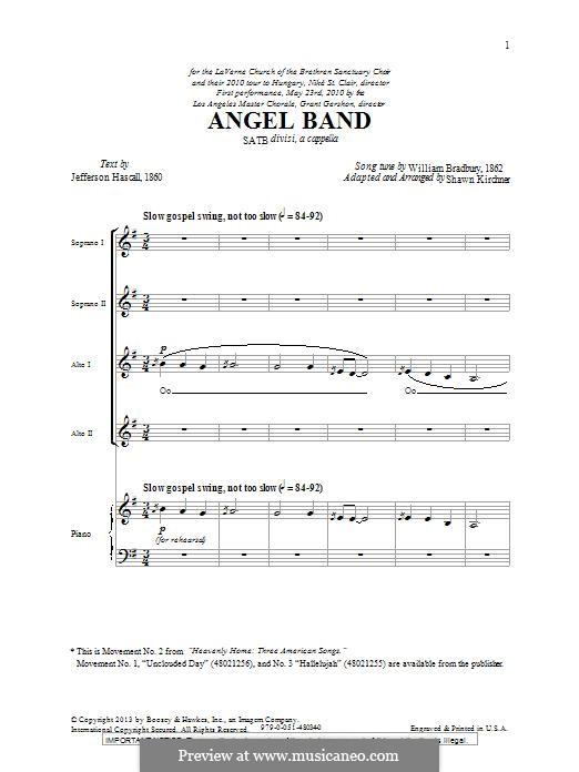 Angel Band: para coro misto by William Batchelder Bradbury