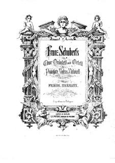 String Quintet in C Major, D.956 Op.163: Arrangement for piano trio – violin part by Franz Schubert