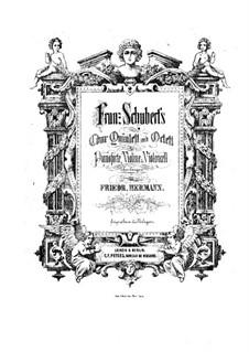 String Quintet in C Major, D.956 Op.163: Arrangement for piano trio – cello part by Franz Schubert