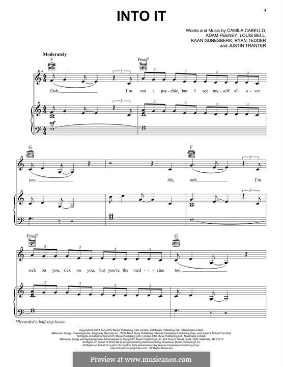 Into It: Para vocais e piano (ou Guitarra) by Ryan B Tedder, Justin Tranter, Louis Bell, Adam King Feeney, Camila Cabello, Kaan Gunesberk