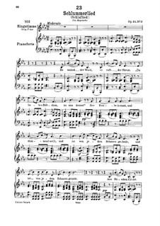 Le berceuse (Slumber Song), D.527 Op.24 No.2: para voz baixa e piano by Franz Schubert