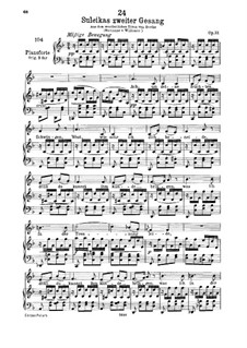 Suleika II, D.717 Op.31: para voz baixa e piano by Franz Schubert