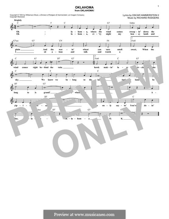 Oklahoma!: melodia by Richard Rodgers