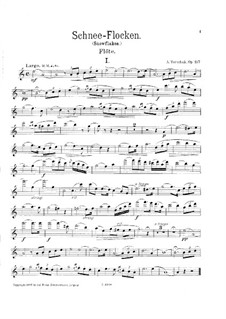 Snowflakes, Op.197: Parte de solo by Adolf Terschak