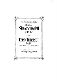 String Quartet No.2 in C Major, Op.93: violino parte II by Ferdinand Thieriot