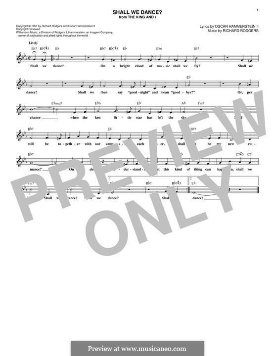 Shall We Dance? (from The King and I): melodia by Richard Rodgers