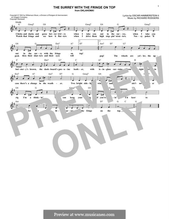 The Surrey with the Fringe on Top: melodia by Richard Rodgers