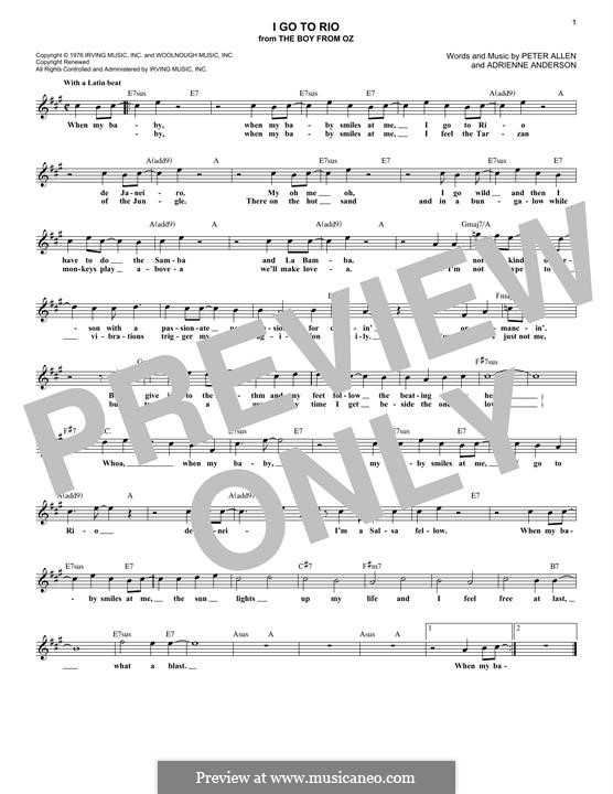 I Go To Rio: melodia by Adrienne Anderson