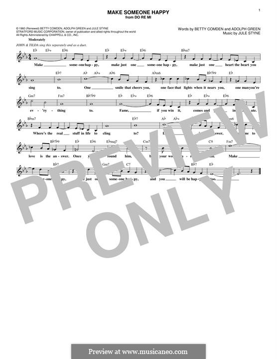 Make Someone Happy: melodia by Jule Styne