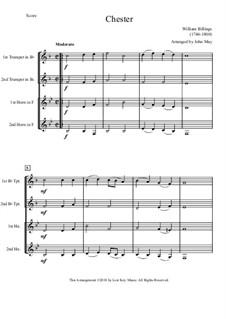 Chester: For quartet by William Billings