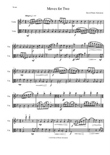 Moves For Two: For violin and viola by David W Solomons