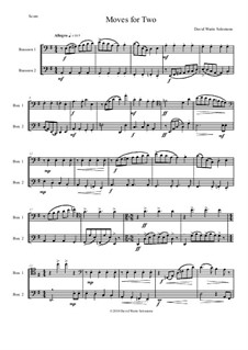 Moves For Two: For 2 bassoons by David W Solomons
