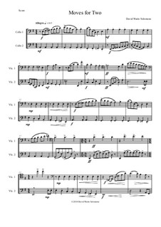 Moves For Two: For 2 cellos by David W Solomons