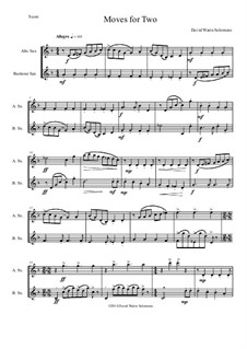 Moves For Two: For alto saxophone and baritone saxophone by David W Solomons