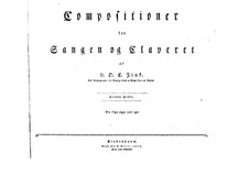 Selim and Mirza: Book III. Arrangement for soloits, choir and piano by Hardenack Otto Conrad Zinck