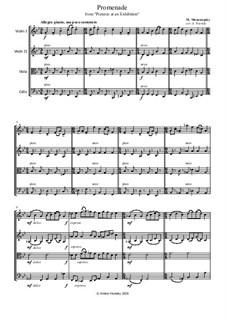 Promenade I: para quartetos de cordas by Modest Mussorgsky