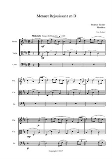 Menuet Rejouissant en D: Menuet Rejouissant en D by Stephen Eichler